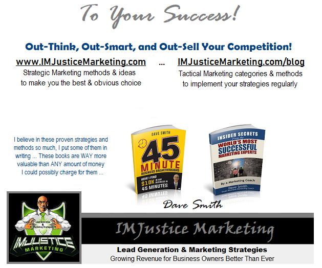 IMJustice Marketing Service Pricing