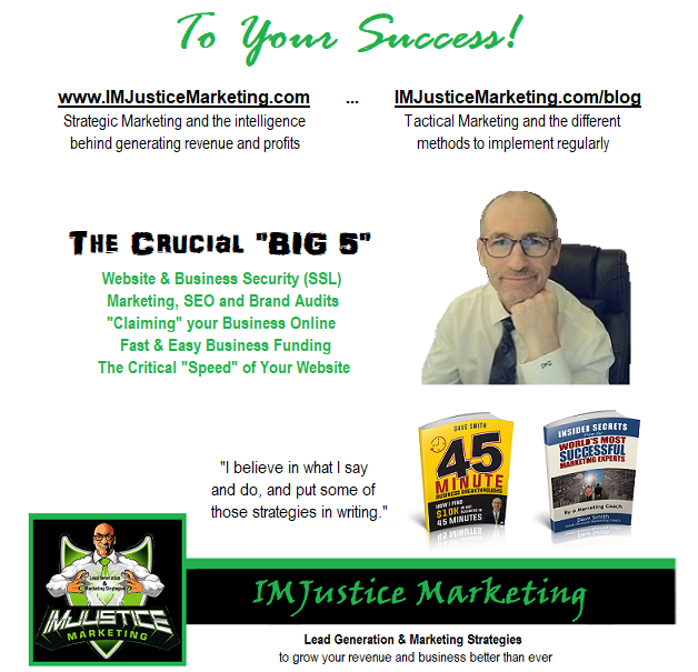 IMJustice Marketing signature and The BIG 5 - email style