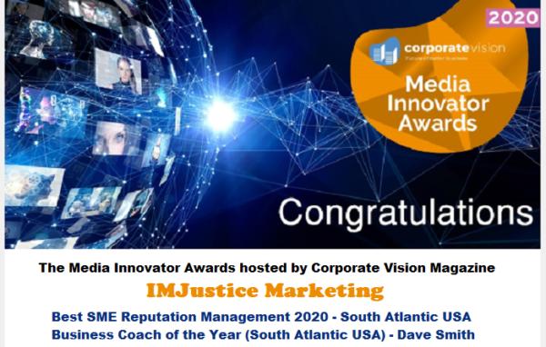 My 2020 Media Innovations Award