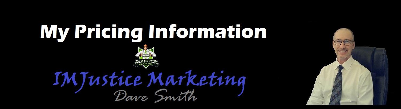 Pricing at IMJustice Marketing